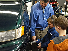 Boy Scouts Learn Auto Repair Skills