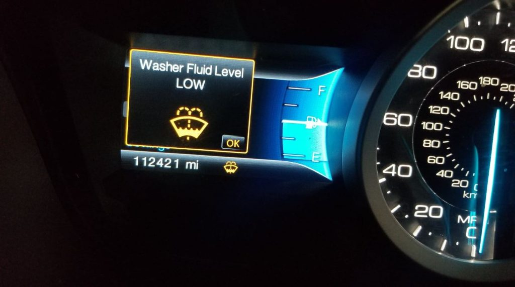 Windshield Washer Fluid Warning Light